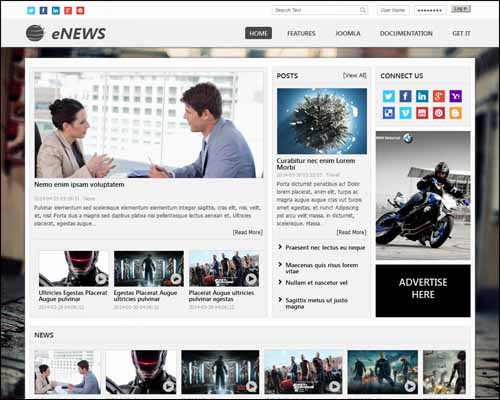 AT ENews Free Joomla Templates