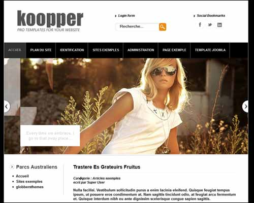 Koopper Black Free Joomla Templates