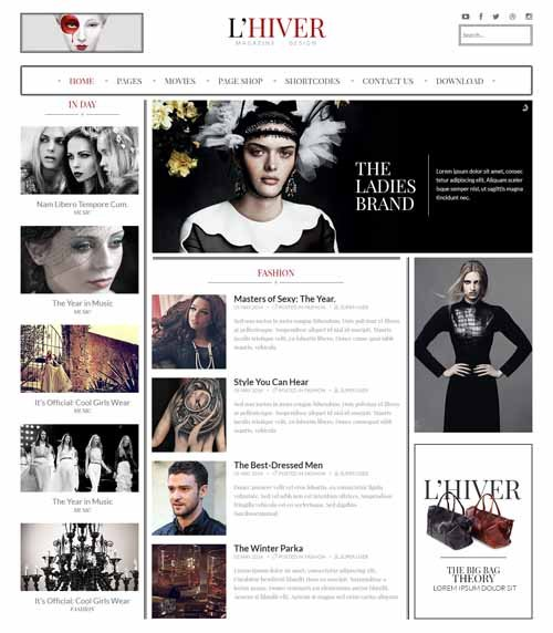 ST Lhiver Free Joomla Fashion Magazine Template2